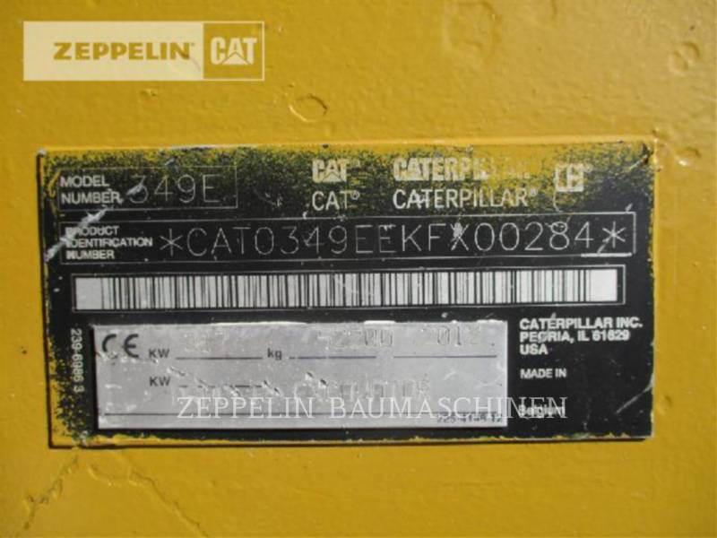 CATERPILLAR トラック油圧ショベル 349EL equipment  photo 2