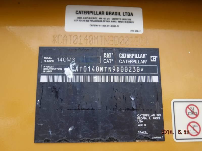 CATERPILLAR MOTORGRADER 140M3 equipment  photo 19