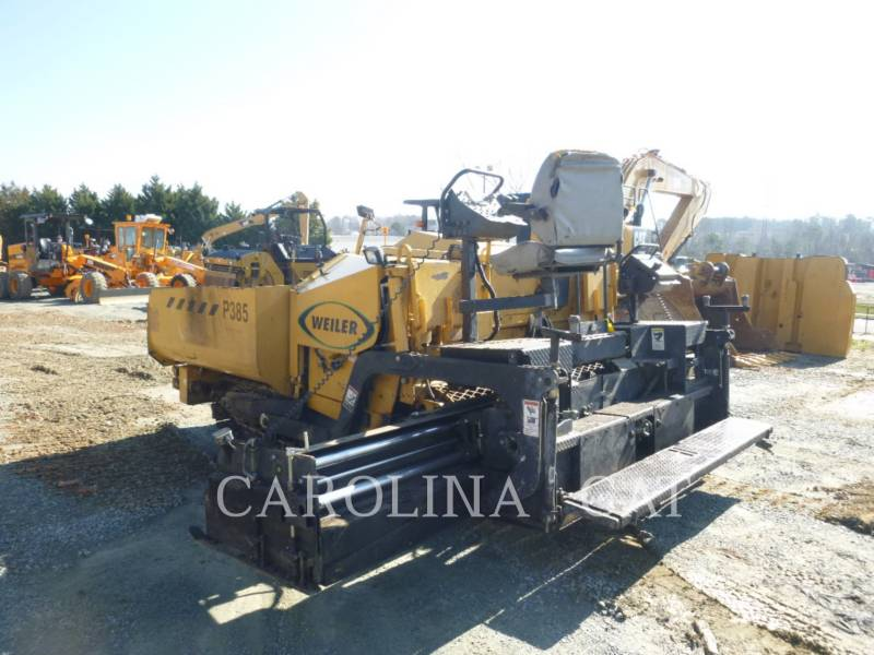 WEILER ASPHALT PAVERS P385 equipment  photo 1