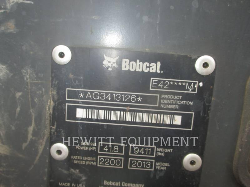 BOBCAT EXCAVADORAS DE CADENAS E42 equipment  photo 5