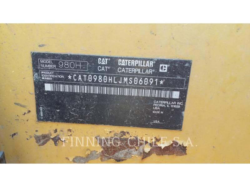 CATERPILLAR RADLADER/INDUSTRIE-RADLADER 980H equipment  photo 8
