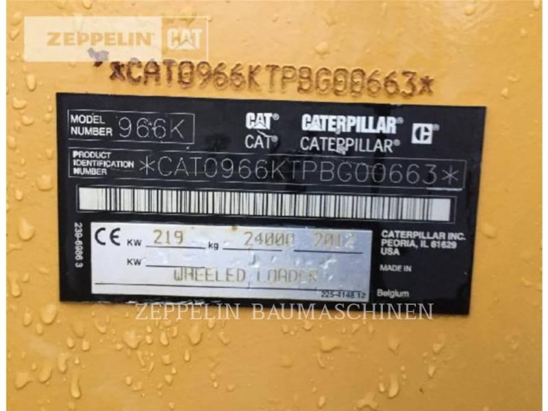 CATERPILLAR RADLADER/INDUSTRIE-RADLADER 966K equipment  photo 5