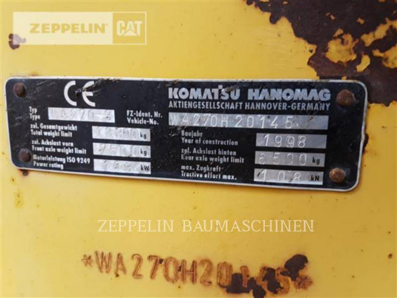 KOMATSU LTD. PALE GOMMATE/PALE GOMMATE MULTIUSO WA270-3 equipment  photo 12