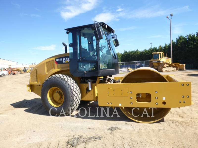 CATERPILLAR EINZELVIBRATIONSWALZE, GLATTBANDAGE CS64B equipment  photo 3
