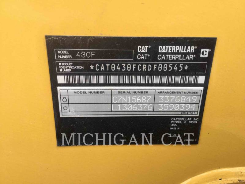 CATERPILLAR BAGGERLADER 430FST equipment  photo 22