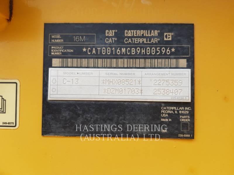CATERPILLAR 鉱業用モータ・グレーダ 16M equipment  photo 19