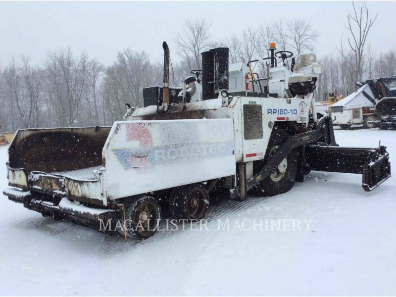 ROADTEC ASPHALT PAVERS RP180-10 equipment  photo 2