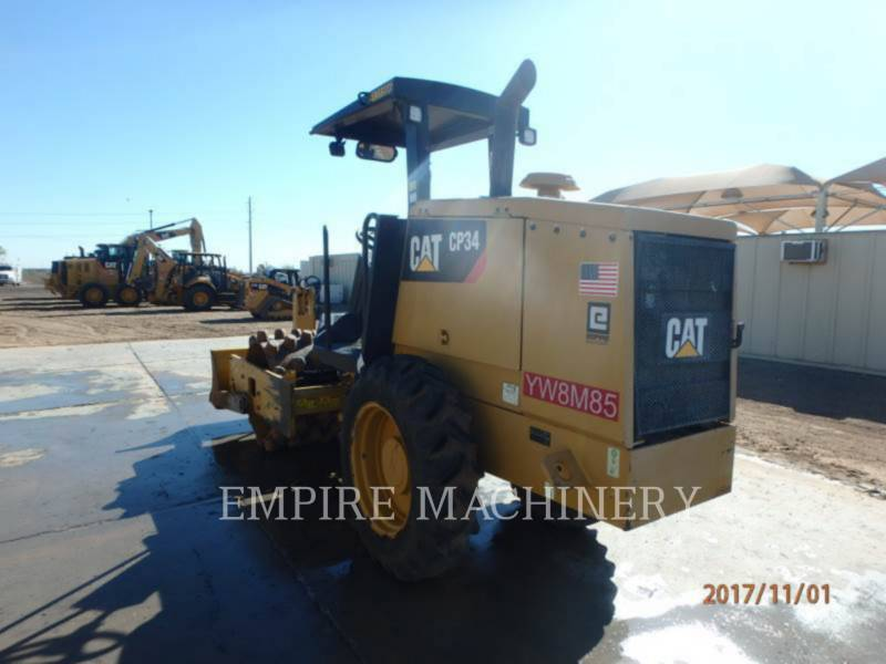 CATERPILLAR COMPATTATORE A SINGOLO TAMBURO VIBRANTE TASSELLATO CP34 equipment  photo 3