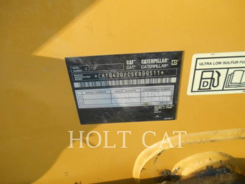 CATERPILLAR BACKHOE LOADERS 420F 4SX equipment  photo 5