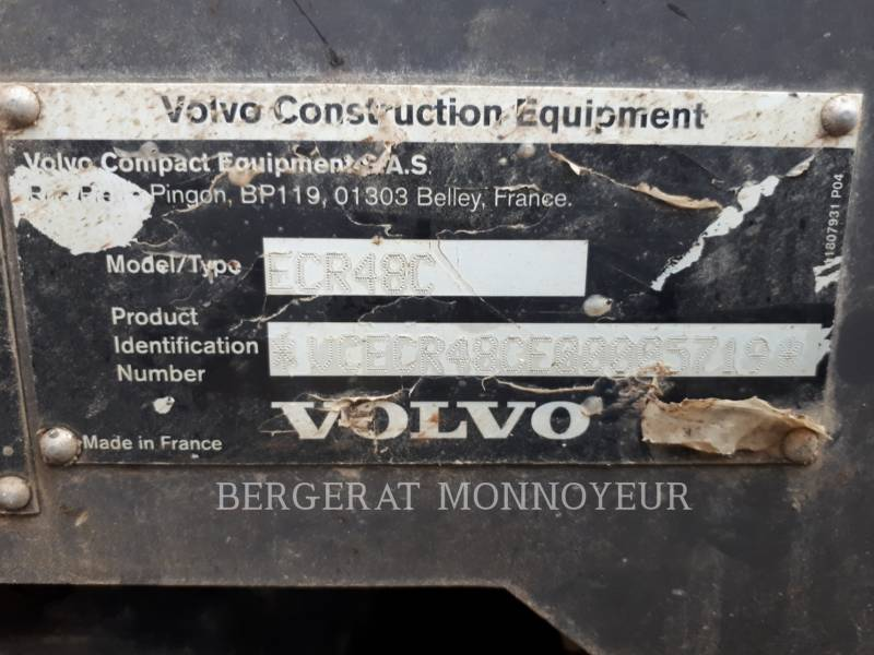 VOLVO CONSTRUCTION EQUIPMENT EXCAVADORAS DE CADENAS ECR48C equipment  photo 8