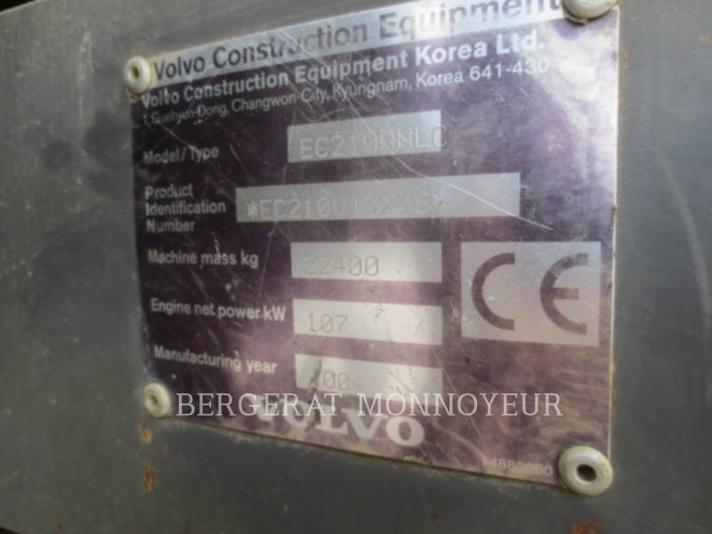 VOLVO CONSTRUCTION EQUIPMENT EXCAVADORAS DE CADENAS EC210BLC equipment  photo 14