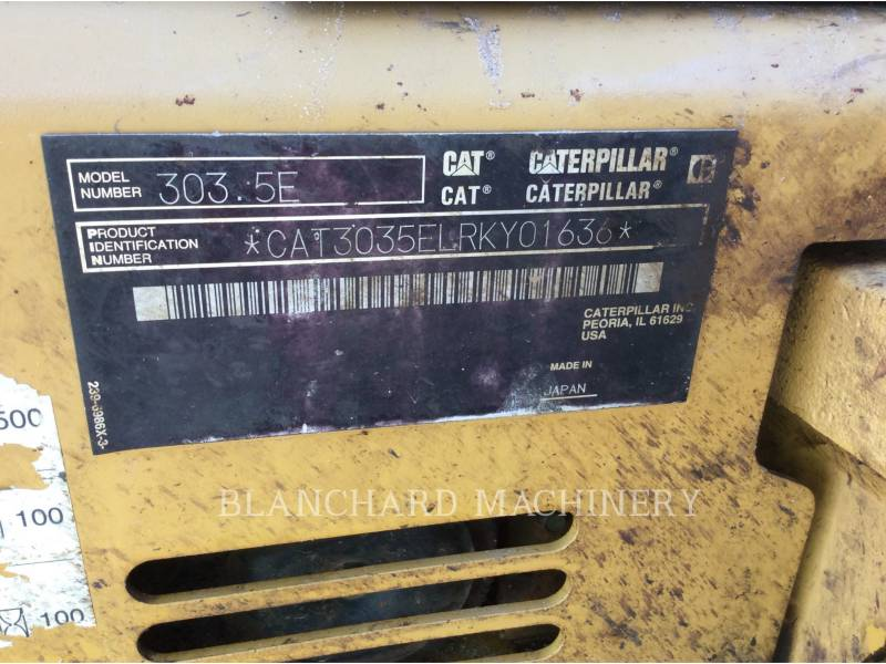 CATERPILLAR TRACK EXCAVATORS 303.5E equipment  photo 9