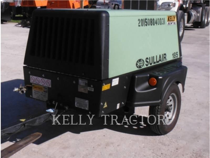 SULLAIR AIR COMPRESSOR 185DPQ equipment  photo 1