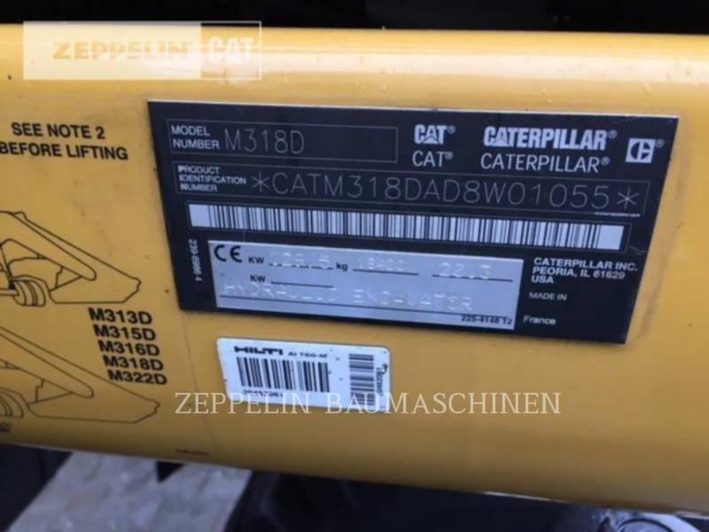 CATERPILLAR MOBILBAGGER M318D equipment  photo 14