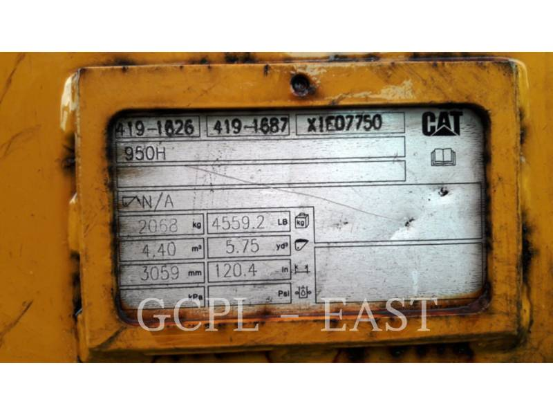 CATERPILLAR PALE GOMMATE/PALE GOMMATE MULTIUSO 950GC equipment  photo 15