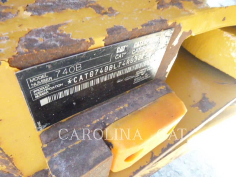 CATERPILLAR KNICKGELENKTE MULDENKIPPER 740 B equipment  photo 13