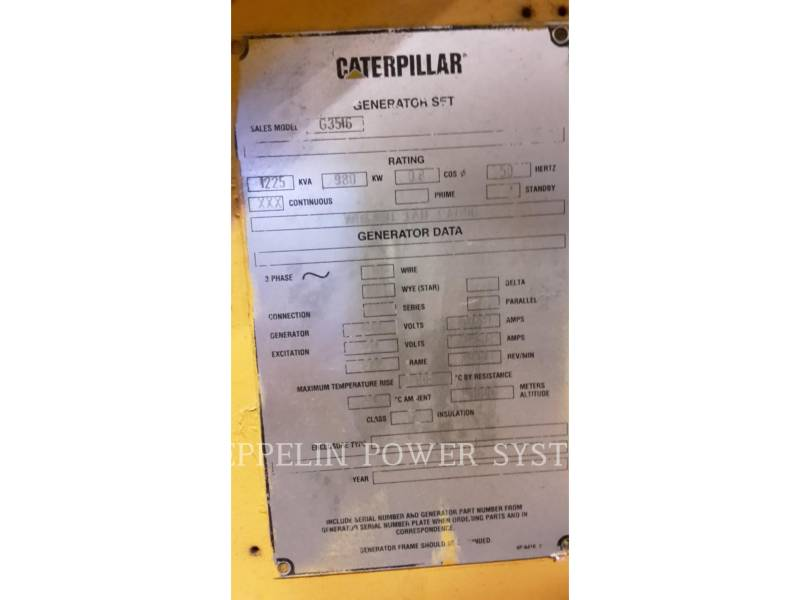 CATERPILLAR FIJO - GAS NATURAL G3516B equipment  photo 2
