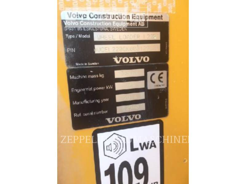 VOLVO CONSTRUCTION EQUIPMENT WHEEL LOADERS/INTEGRATED TOOLCARRIERS L220 equipment  photo 2