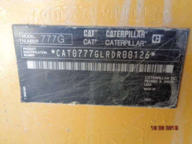 CATERPILLAR OFF HIGHWAY TRUCKS 777G equipment  photo 5