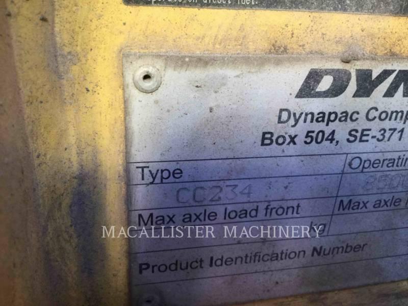 DYNAPAC VIBRATORY DOUBLE DRUM ASPHALT CC234HF equipment  photo 4