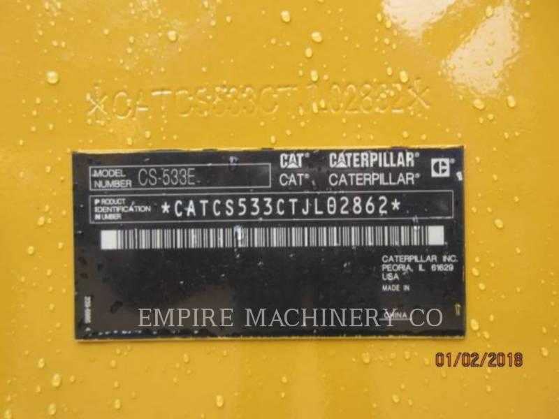 CATERPILLAR COMPACTEUR VIBRANT, MONOCYLINDRE À PIEDS DAMEURS CS533E equipment  photo 15