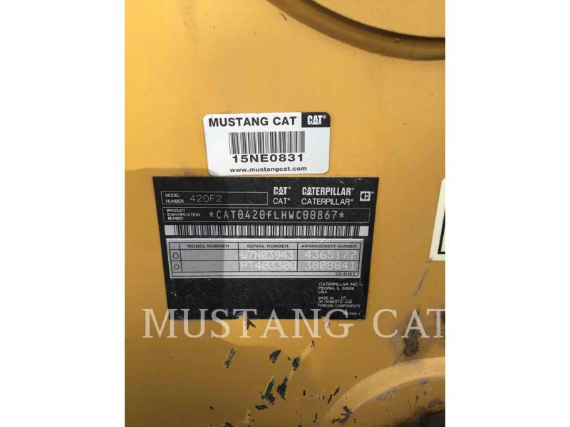 CATERPILLAR BAGGERLADER 420F2 4SCA equipment  photo 5