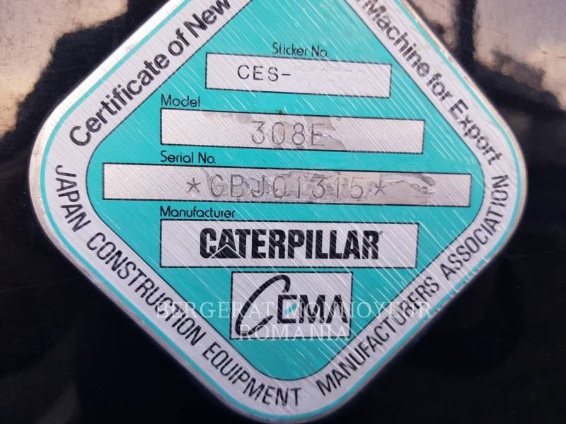 CATERPILLAR PELLES SUR CHAINES 308 E CR SB equipment  photo 15