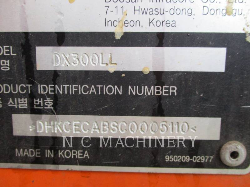 DOOSAN INFRACORE AMERICA CORP. MASZYNA LEŚNA DX300LL equipment  photo 2
