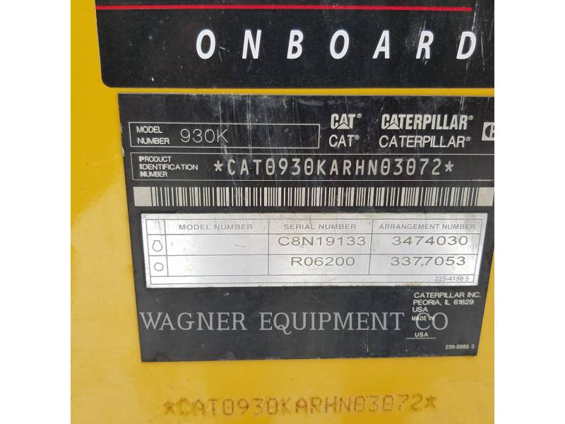 CATERPILLAR RADLADER/INDUSTRIE-RADLADER 930K FC equipment  photo 5