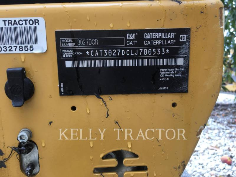 CATERPILLAR TRACK EXCAVATORS 302.7DCR equipment  photo 13