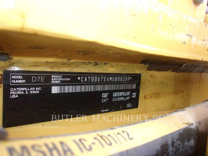 CATERPILLAR TRACK TYPE TRACTORS D7E equipment  photo 6