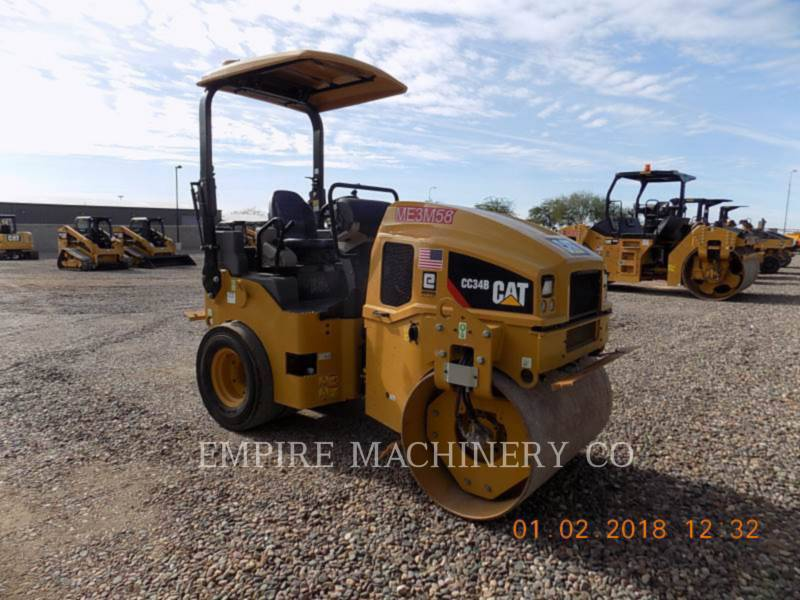 CATERPILLAR COMPACTEURS TANDEMS VIBRANTS CC34B equipment  photo 1