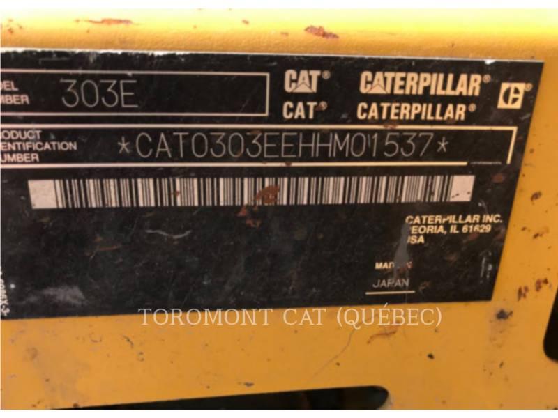 CATERPILLAR PELLES SUR CHAINES 303ECR equipment  photo 12