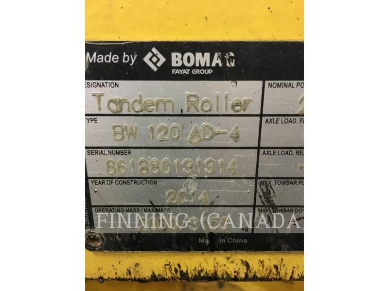 BOMAG TAMBOR DOBLE VIBRATORIO ASFALTO BW 120 AD-4 equipment  photo 7