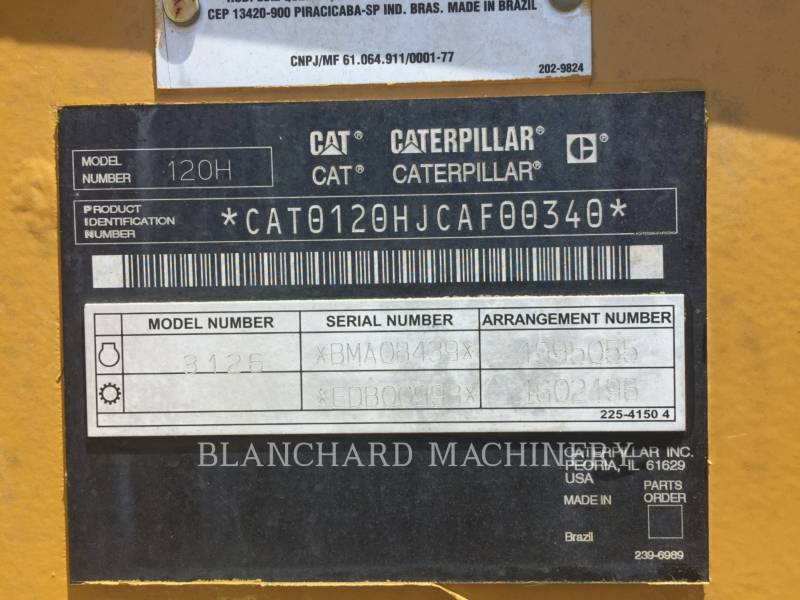CATERPILLAR MOTONIVELADORAS 120H equipment  photo 8