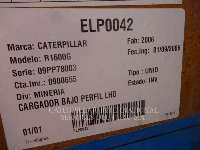 CATERPILLAR MINING WHEEL LOADER R1600G equipment  photo 9