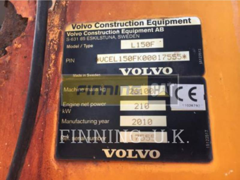 VOLVO CONSTRUCTION EQUIPMENT WHEEL LOADERS/INTEGRATED TOOLCARRIERS L150F equipment  photo 2