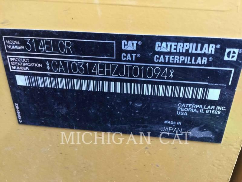 CATERPILLAR TRACK EXCAVATORS 314ELCR P equipment  photo 23