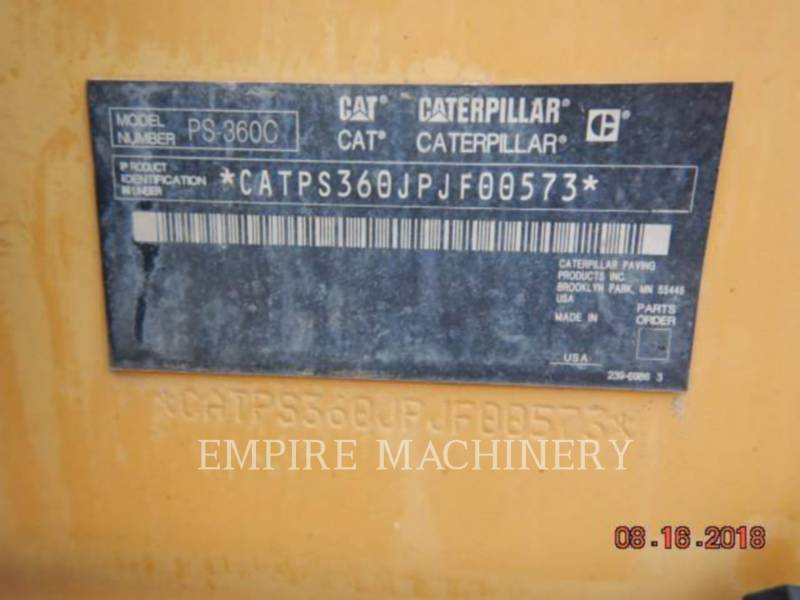 CATERPILLAR COMPATTATORI GOMMATI PNEUMATICI PS-360C equipment  photo 9
