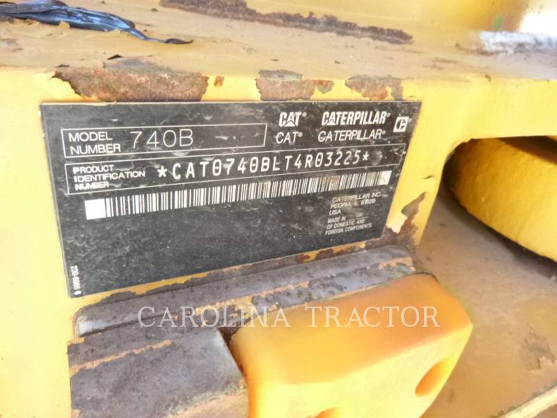 Caterpillar CAMIOANE ARTICULATE 740B equipment  photo 8