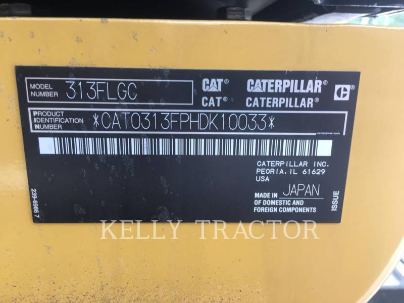 CATERPILLAR TRACK EXCAVATORS 313FL GC equipment  photo 20
