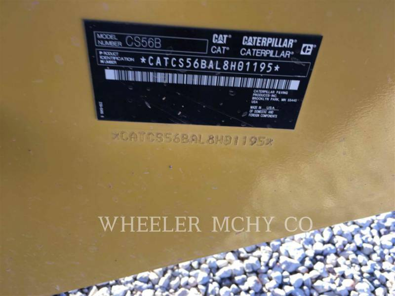 CATERPILLAR VIBRATORY SINGLE DRUM SMOOTH CS56B equipment  photo 5