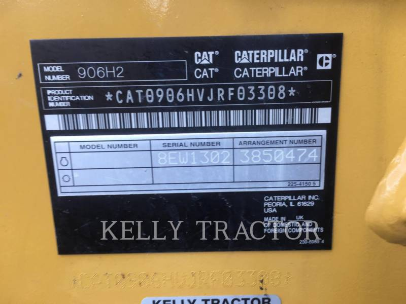 CATERPILLAR RADLADER/INDUSTRIE-RADLADER 906H2 equipment  photo 17