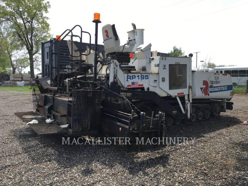 ROADTEC ASPHALT PAVERS RP195 equipment  photo 3