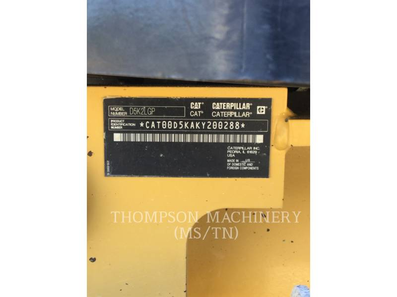 CATERPILLAR TRATORES DE ESTEIRAS D5K2 LGP equipment  photo 1