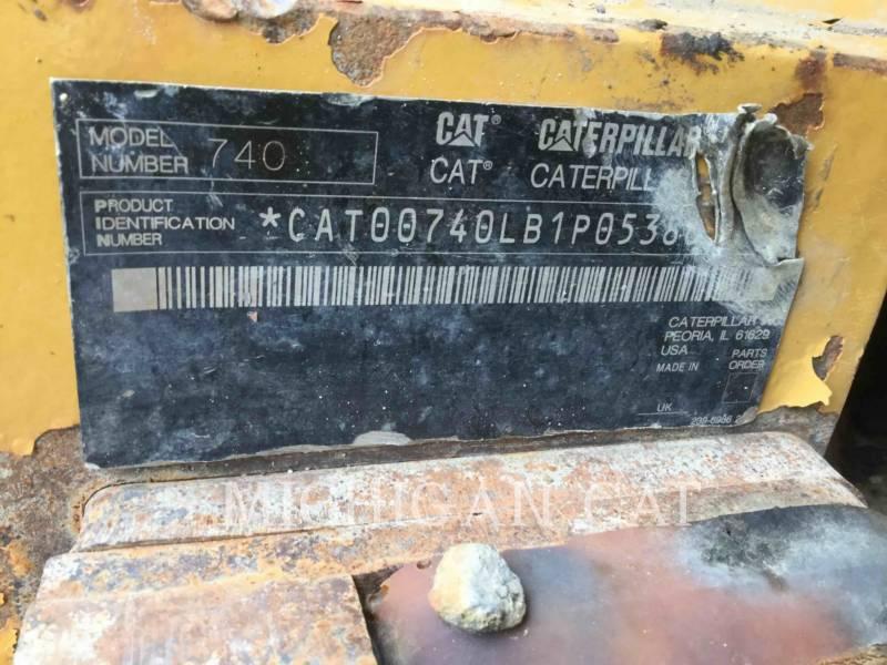 CATERPILLAR CAMIONES ARTICULADOS 740 T equipment  photo 7