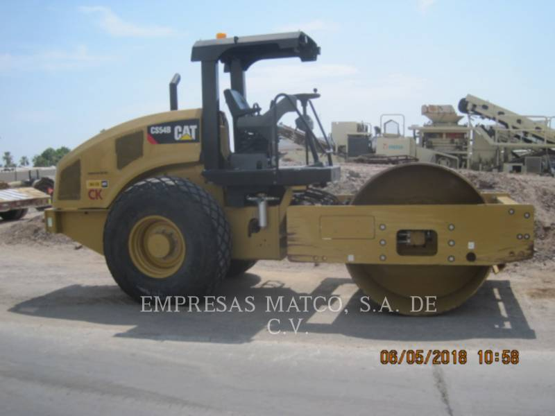 CATERPILLAR COMPATTATORE A SINGOLO TAMBURO VIBRANTE LISCIO CS54BLRC equipment  photo 1