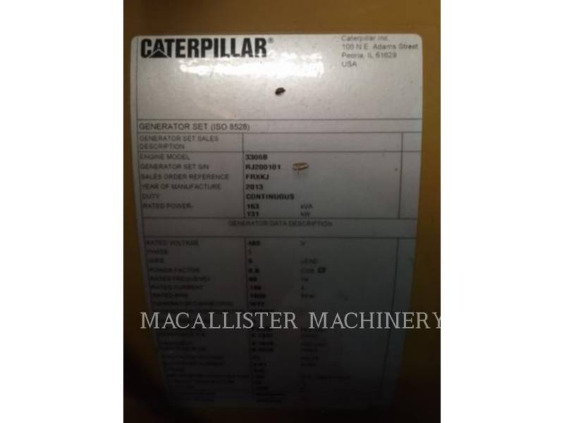 CATERPILLAR STATIONARY GENERATOR SETS G3306 equipment  photo 13