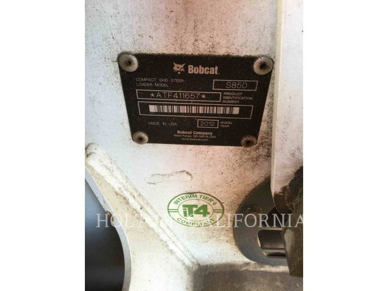 BOBCAT SKID STEER LOADERS S850 SSL equipment  photo 16