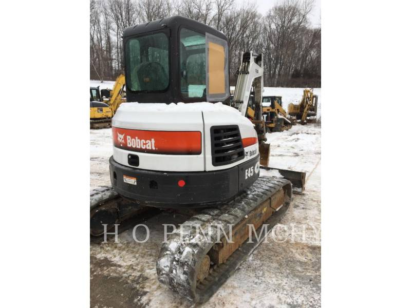 BOBCAT PELLE MINIERE EN BUTTE E45 equipment  photo 3